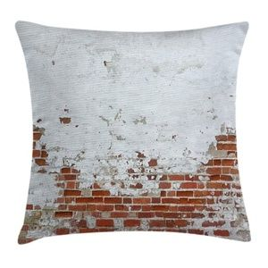 Pillow Case Old Brick Wall Print Cover No Insert